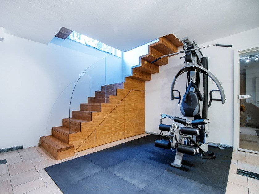 L-shaped glass Open staircase Zig-Zag Case by Siller Treppen