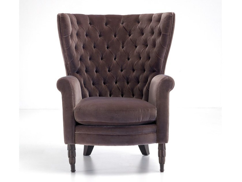 Bergere tufted upholstered armchair A 0572 | Bergere armchair by Annibale Colombo
