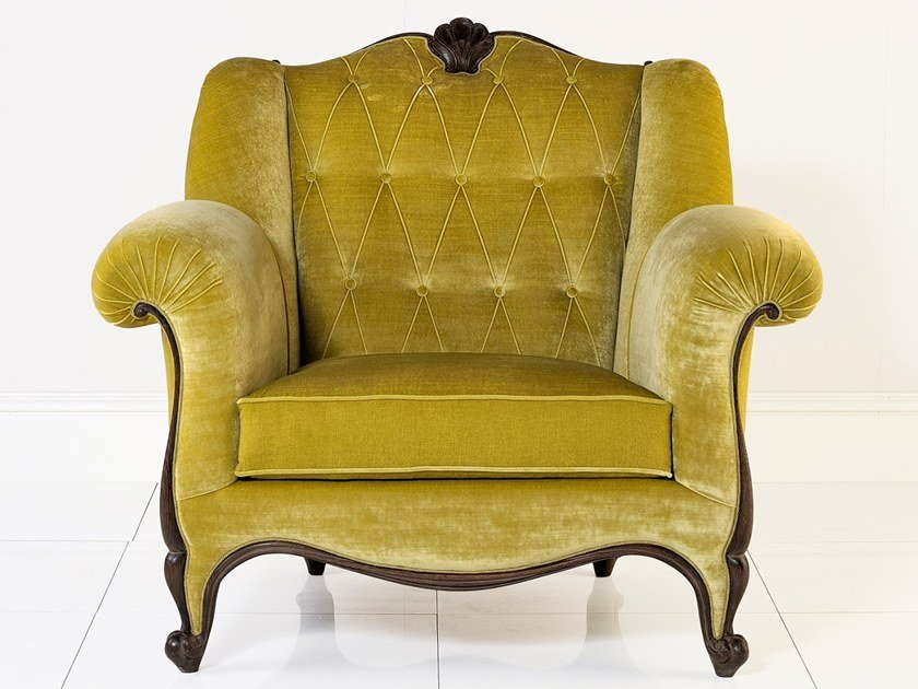 Tufted upholstered fabric armchair ALBERT | Armchair by Annibale Colombo