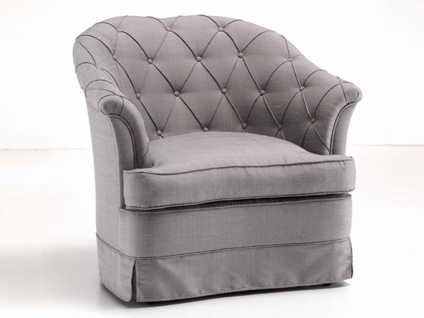 Tufted upholstered fabric armchair A 1525/1 | Armchair by Annibale Colombo