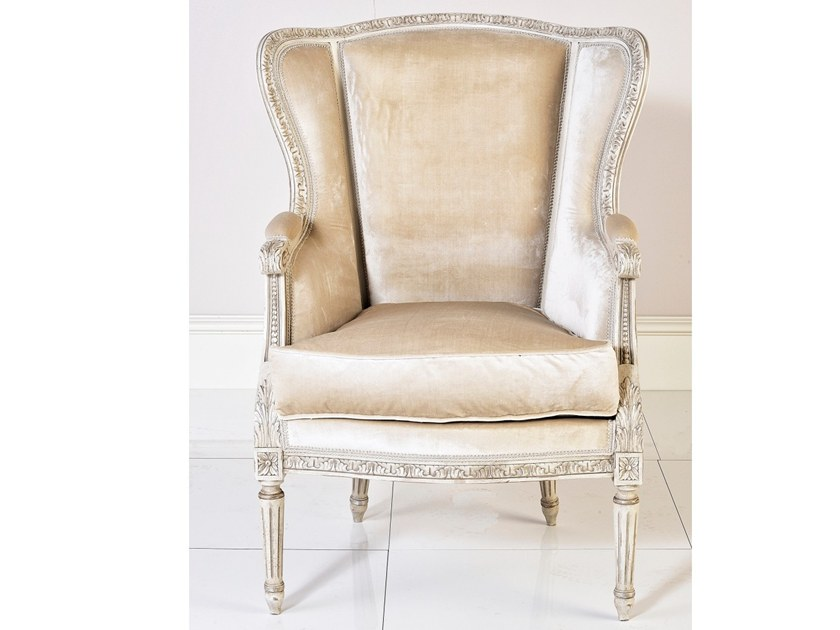 Louis XVI upholstered fabric armchair A 1528   Armchair by Annibale Colombo