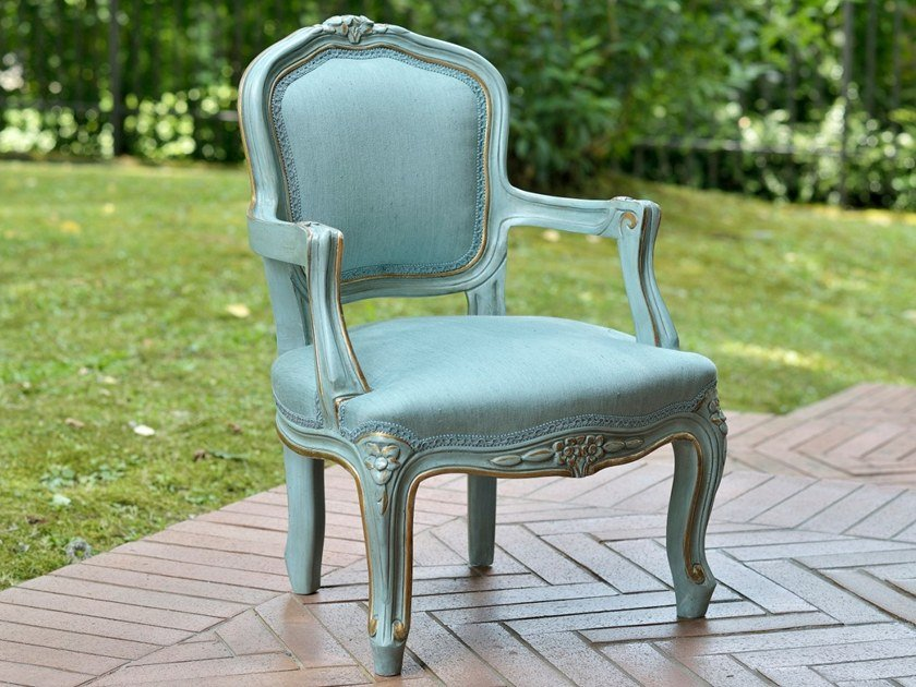 Louis XV upholstered fabric Kids armchair A 1547 | Kids armchair by Annibale Colombo