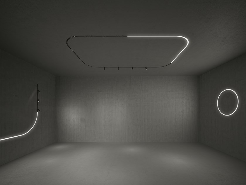Linear lighting profile for LED modules A.24 CIRCULAR by Artemide