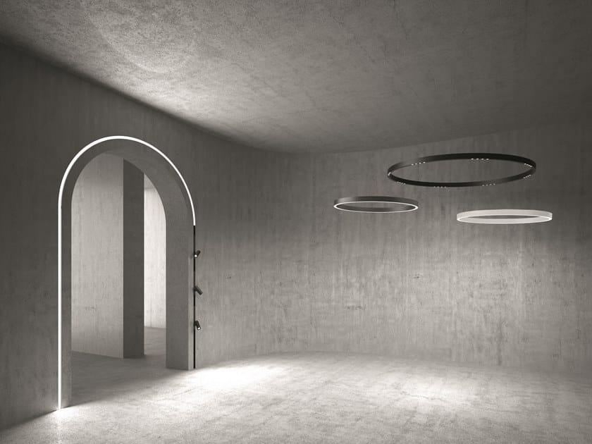 LED direct light aluminium pendant lamp A.24 | Pendant lamp by Artemide