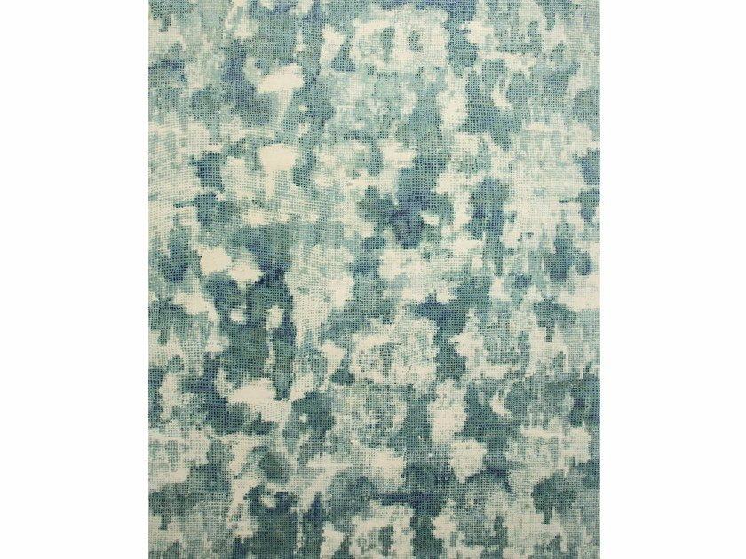 Handmade rug MEGH QM-701 White/Light Sea by Jaipur Rugs