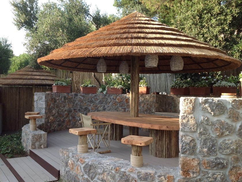 Ombrellone rotondo maxi in Canna del capo naturale GRENEER OUTDOOR | Ombrellone rotondo by AFRICA STYLE