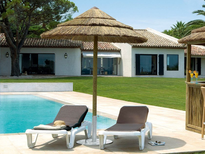 Ombrellone rotondo in Canna del capo naturale GREENER OUTDOOR REEDY by AFRICA STYLE