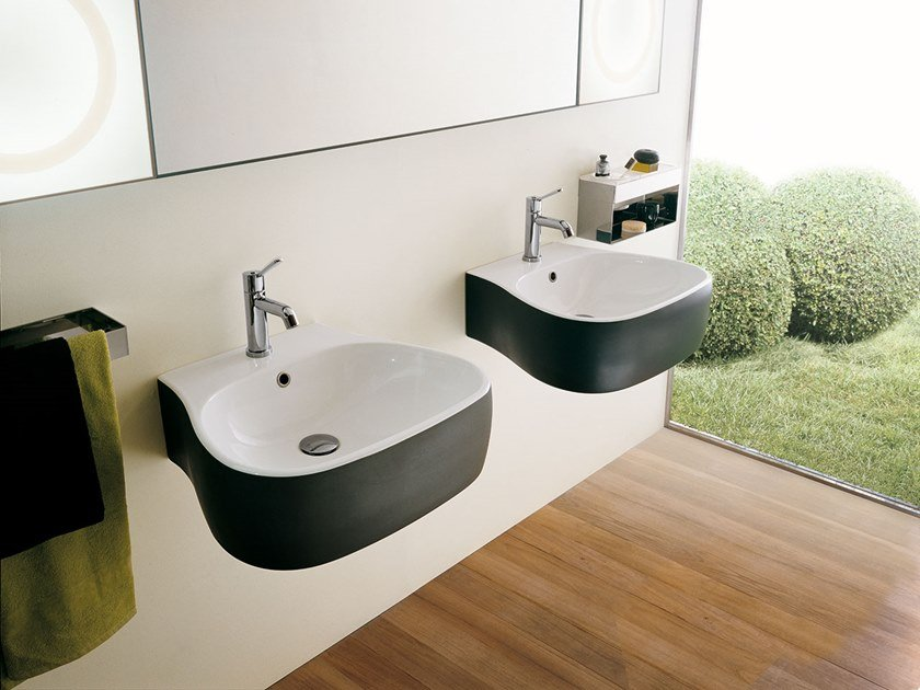 Wall-mounted ceramic washbasin PEAR   Washbasin by Agape
