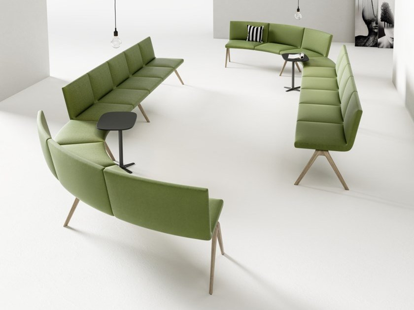 Fabric bench seating with back A-BENCH | Bench seating with back by Brunner
