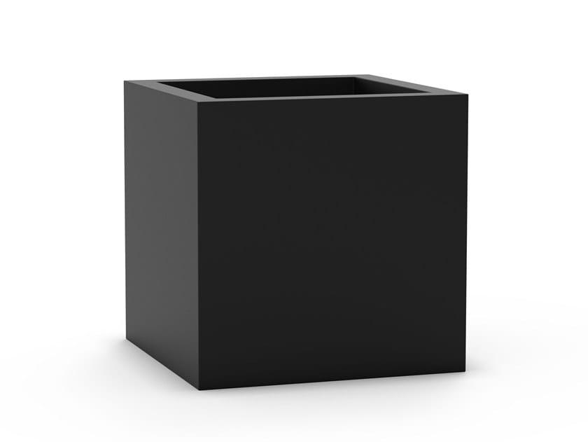 Fioriera modulare quadrata in acciaio inox CUBE by BLOSS