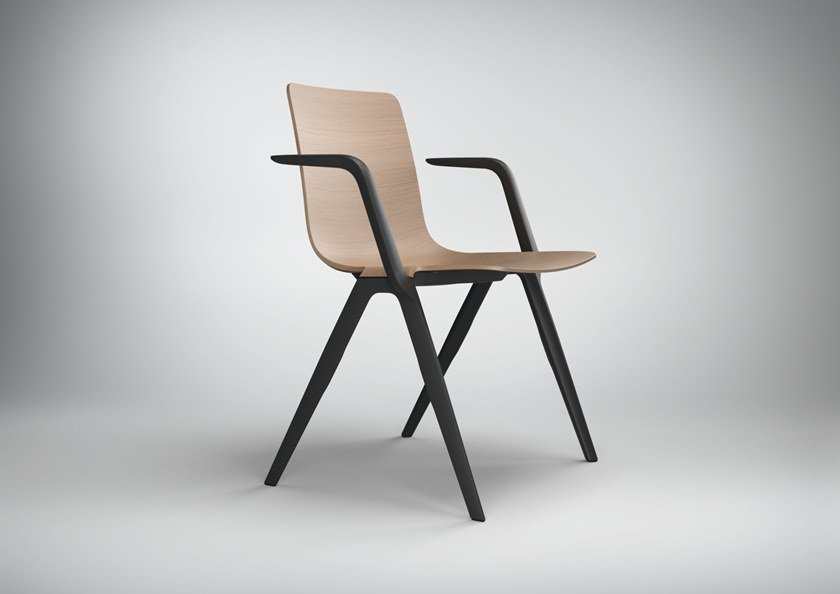 A-CHAIR | Chair with armrests A-Family Collection By Brunner design ...