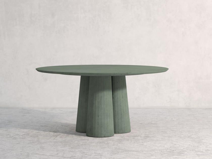 Fusto Tavolo Rotondo Collezione Domestic Concrete Landscape By Forma Cemento Design Marialaura Rossiello Irvine
