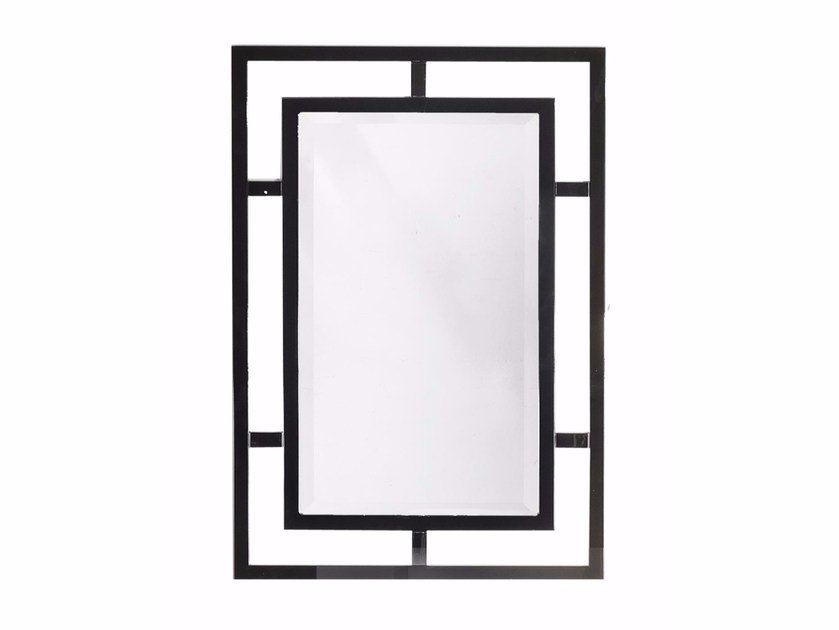 Rectangular wall-mounted framed mirror COTTON CLUB | Mirror by GENTRY HOME