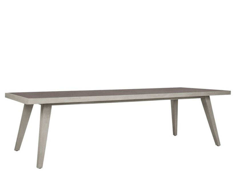 Teak rectangular garden table with ceramic insert ROCK GARDEN | Rectangular table by JANUS et Cie