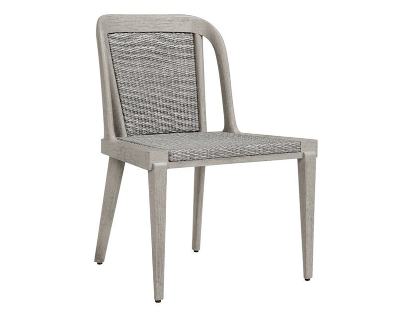 Teak and JanusFiber® garden chair ROCK GARDEN | Chair by JANUS et Cie