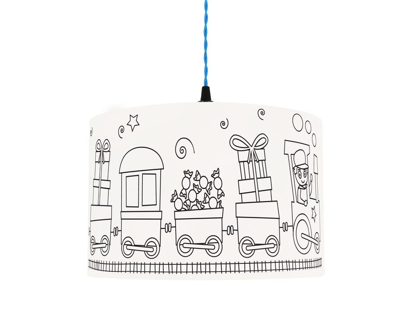 Lampshade for children SWEET WAGONS by Mullan Lighting