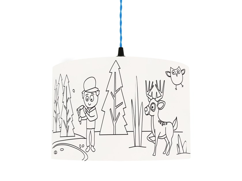 Lampshade for children IN THE WOODS by Mullan Lighting