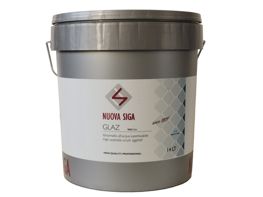 Breathable water-based paint GLAZ by NUOVA SIGA