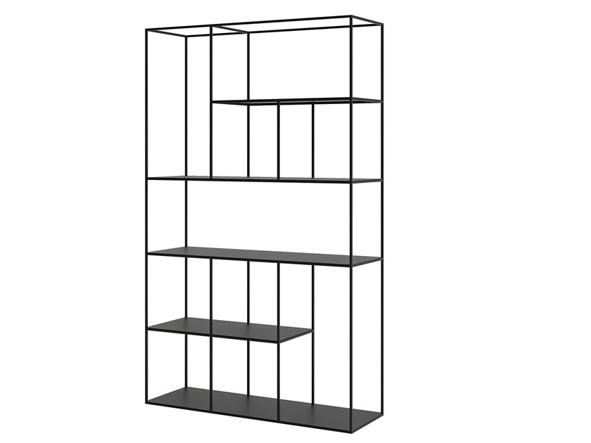 Open powder coated steel bookcase A-SYMETRIC by take me HOME