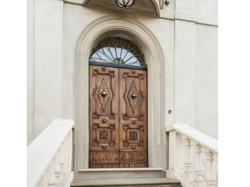 Security doors with restorated panels Safety door by VIGHI