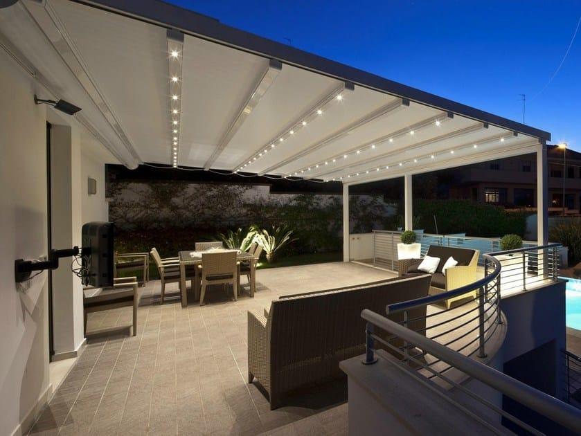 Pergola in alluminio con copertura scorrevole A2 COMPACT by KE Outdoor Design