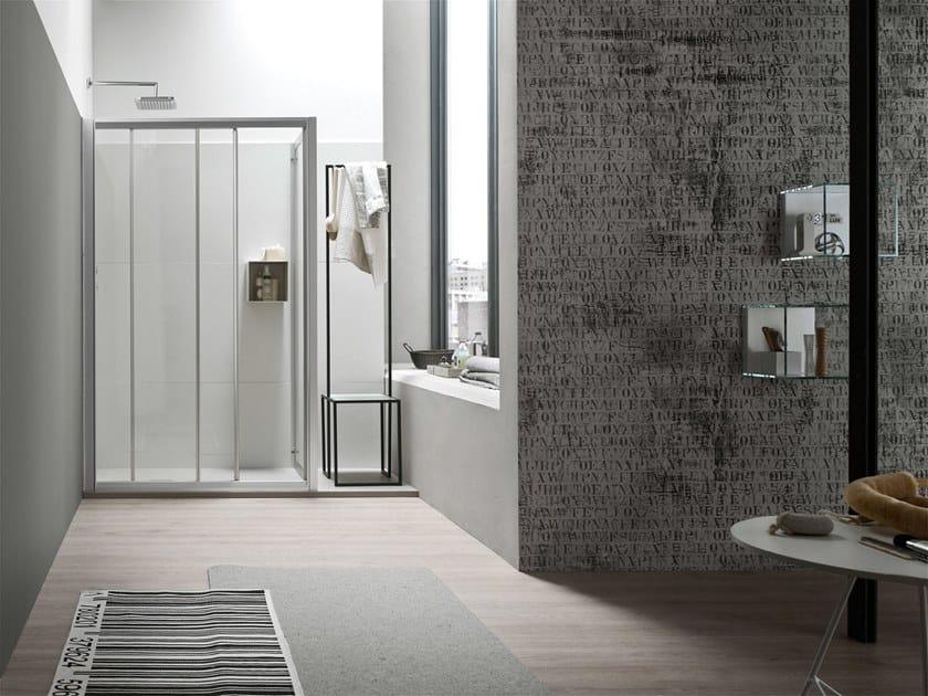 A box doccia con porta scorrevole by arcom