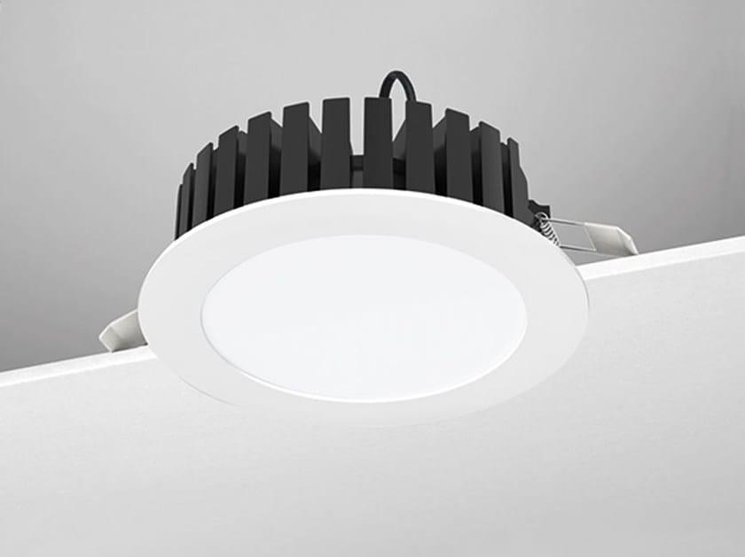 Faretto a LED rotondo in alluminio da incasso A4/E by NOBILE ITALIA