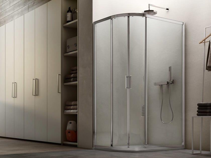 A6 | Box doccia semicircolare angolo semicircolare / installazione appoggio pavimento
