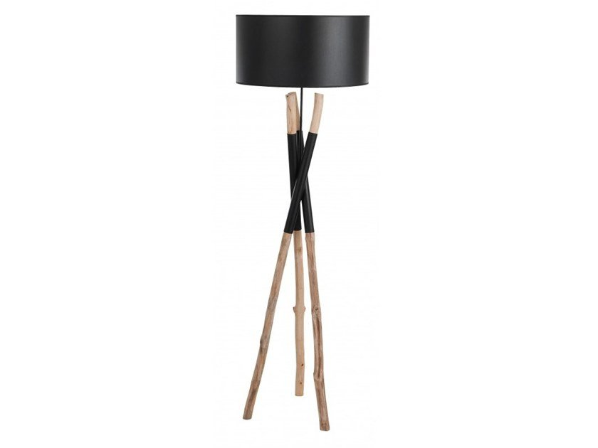 Wooden floor lamp RANGUN | Floor lamp by Flam & Luce