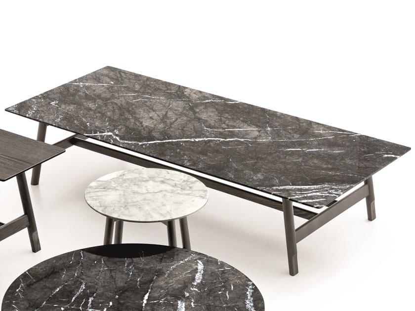 Mesita rectangular de mármol AANY | Mesita rectangular by Ditre Italia