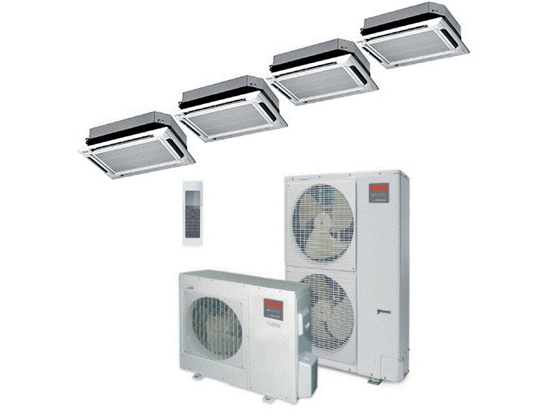 Commercial inverter air conditioner with heat pump AARIA PRO MAXI AMK by RIELLO