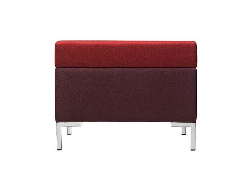 Upholstered fabric pouf Abaco 753 by Metalmobil