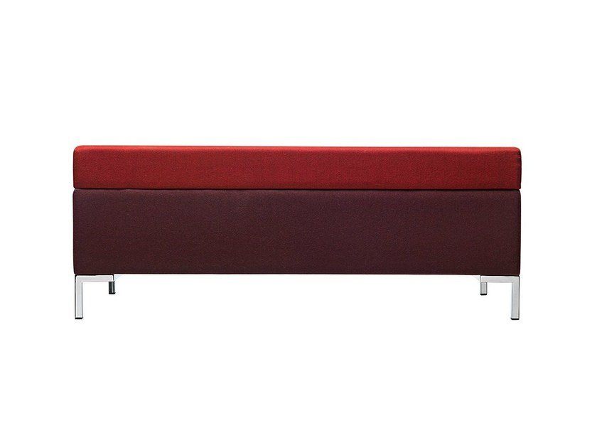 Upholstered fabric bench Abaco 754 by Metalmobil