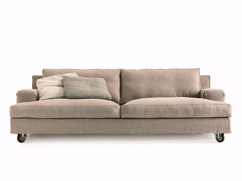 2 Seater Fabric Sofa With Casters ABERDEEN | 2 Seater Sofa By Lema