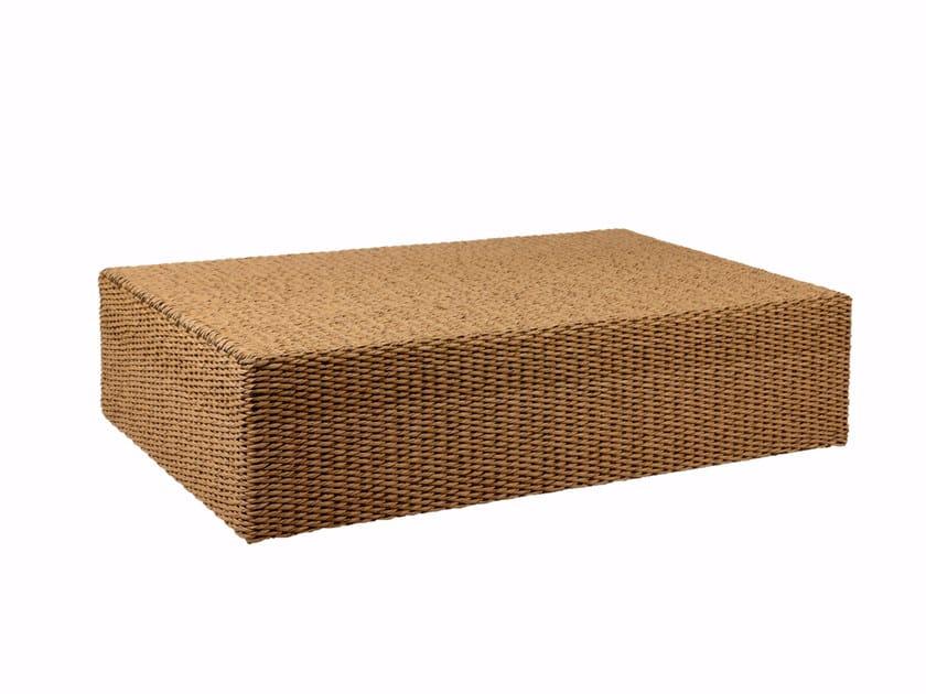 Low rectangular rattan garden side table ABONDO | Rectangular coffee table by ROYAL BOTANIA