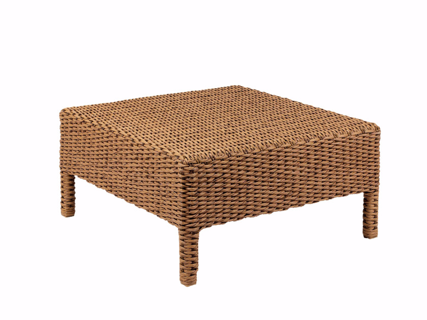 Low square rattan garden side table ABONDO   Coffee table by ROYAL BOTANIA
