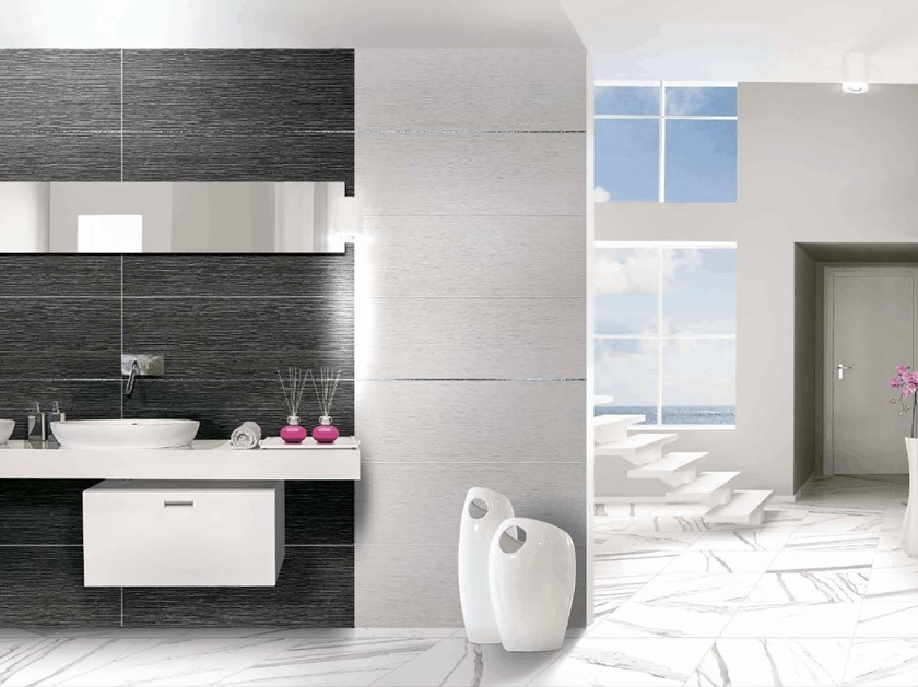 Wall tiles with marble effect ABSOLUTE PLUS LINE RELIEF by CERAMICHE BRENNERO