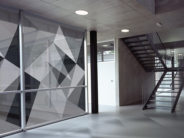 Self-adhesive transparent fabric for covering windows ABSTRACT 01 by ACTE-DECO