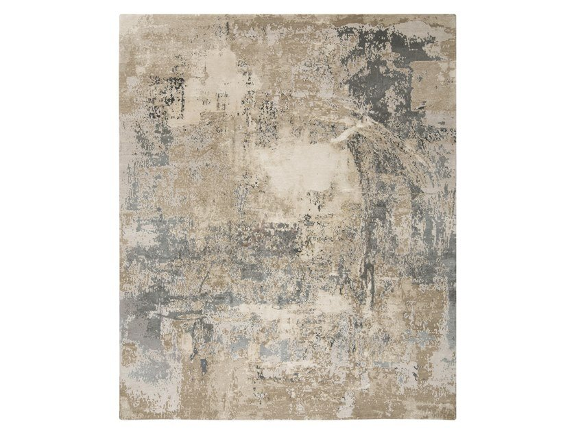 Handmade custom rug ABSTRACT 1 BEIGE by Thibault Van Renne