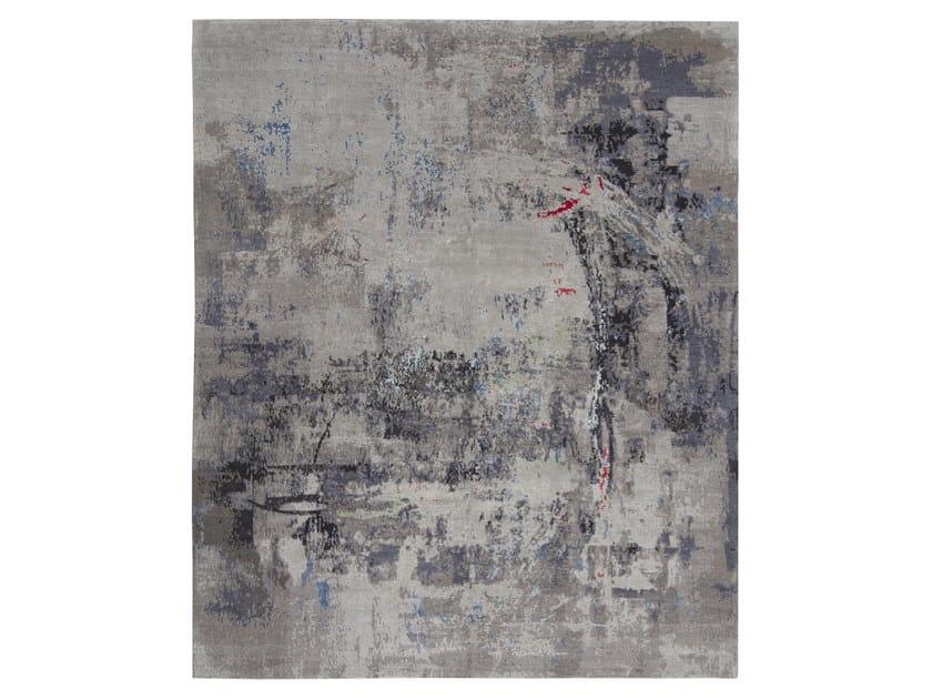 Handmade custom rug ABSTRACT 1 BLACK by Thibault Van Renne