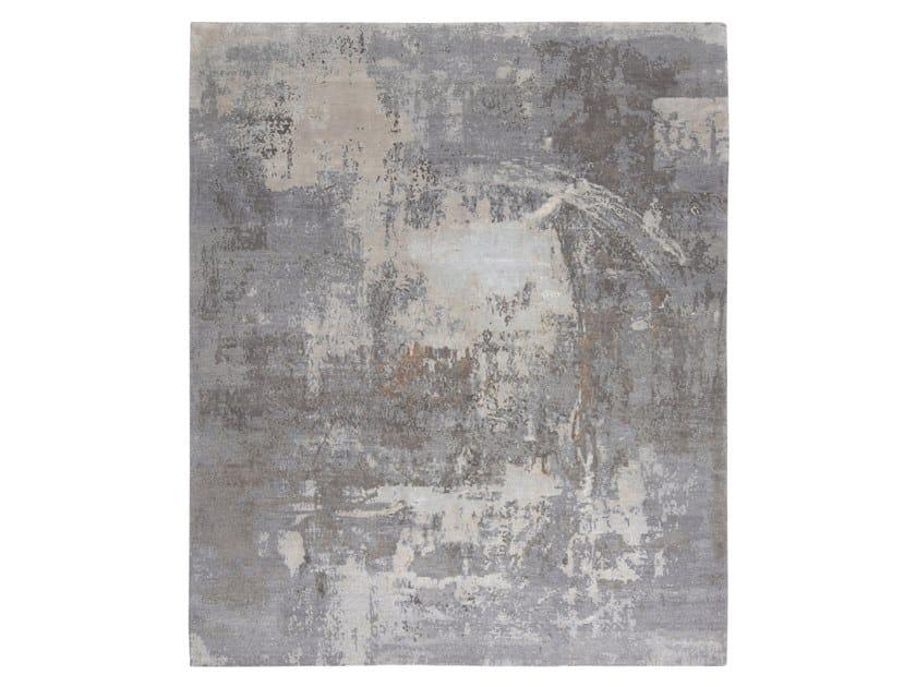 Handmade custom rug ABSTRACT 1 GREY by Thibault Van Renne