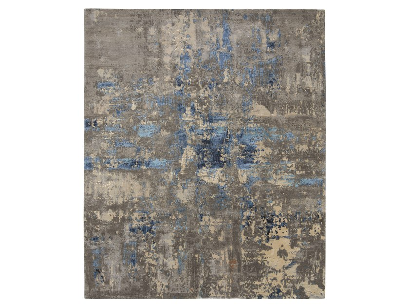 Handmade custom rug ABSTRACT 4 BLUE by Thibault Van Renne