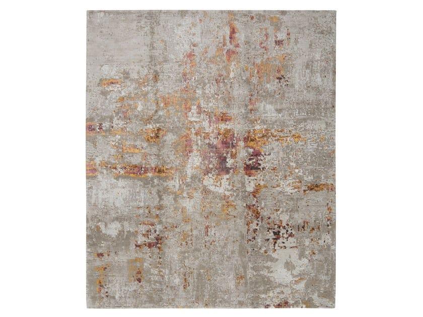 Handmade custom rug ABSTRACT 4 RED by Thibault Van Renne