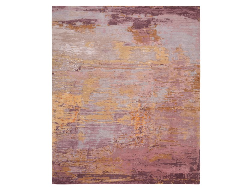 Handmade custom rug ABSTRACT 5 RED by Thibault Van Renne