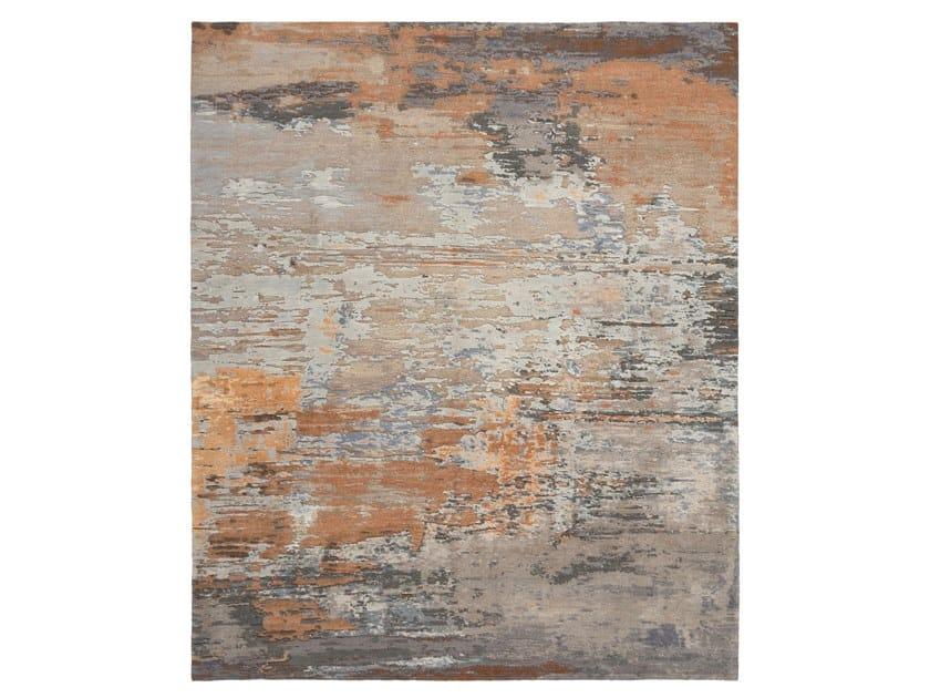 Handmade custom rug ABSTRACT 5 TERRACOTTA GREY by Thibault Van Renne