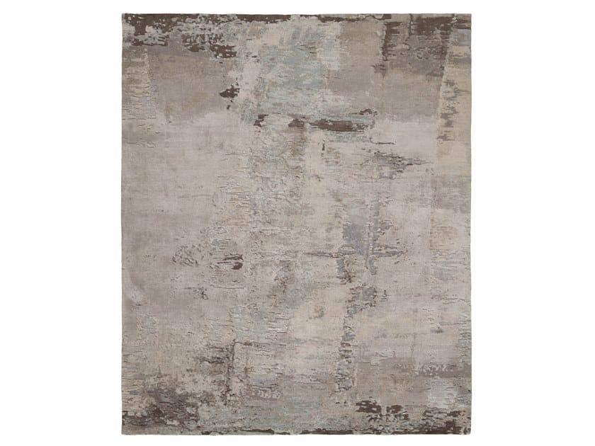 Handmade custom rug ABSTRACT 6 GREY by Thibault Van Renne