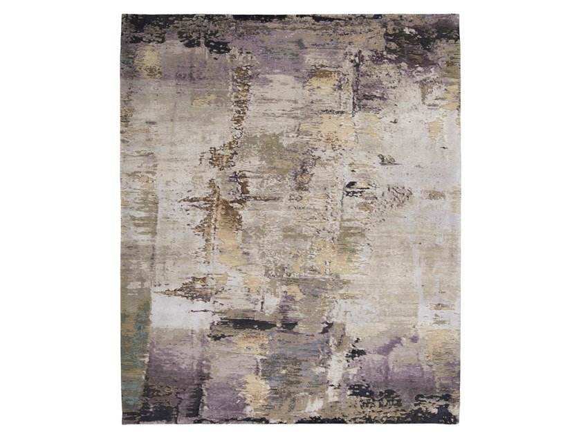 Handmade custom rug ABSTRACT 6 PURPLE MULTI by Thibault Van Renne