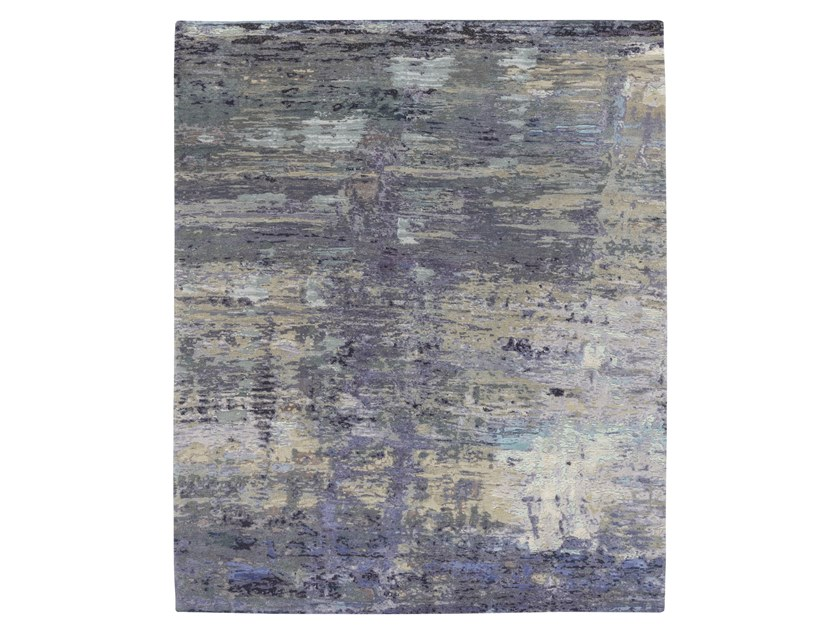 Handmade custom rug ABSTRACT 7 OP3 AQUA by Thibault Van Renne