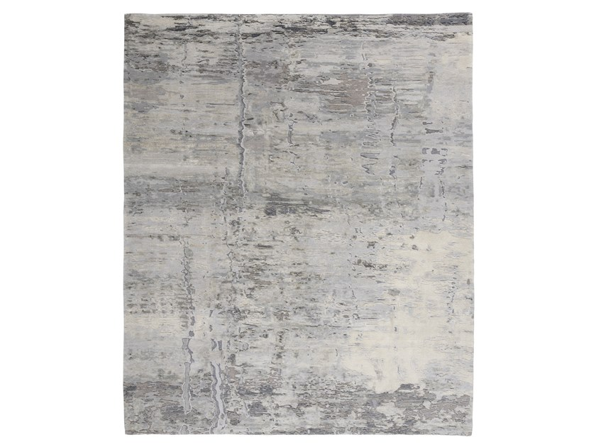Handmade custom rug ABSTRACT 8 GREY SILVER by Thibault Van Renne