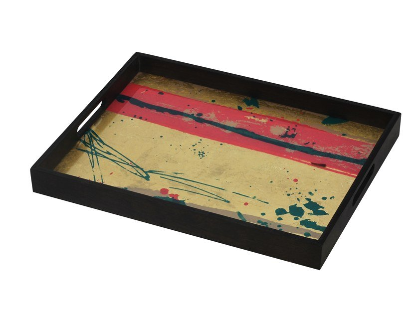 Rectangular glass tray ABSTRACT STUDY by Notre Monde